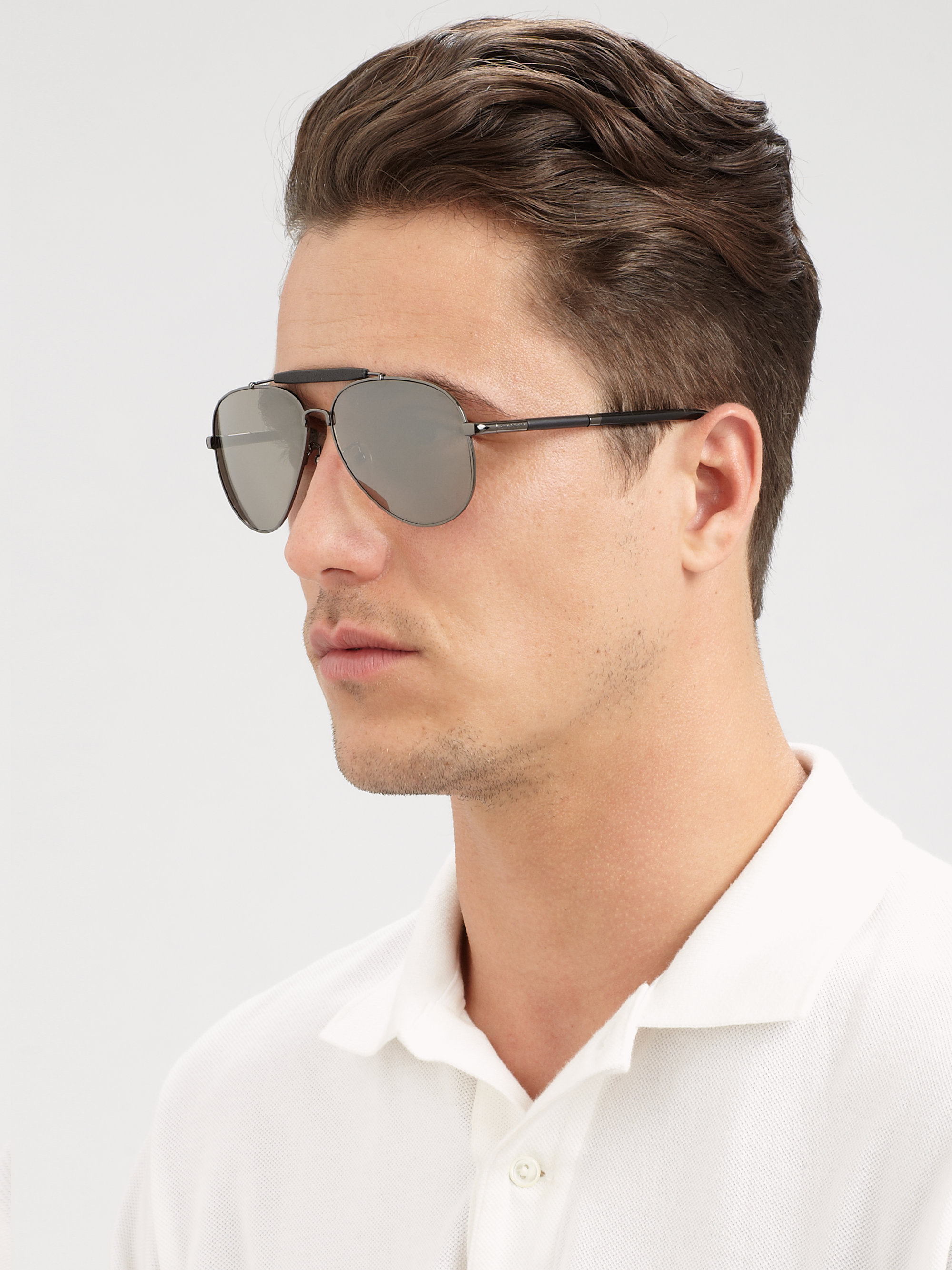 b788224253c Lyst - Givenchy Metal Aviator Sunglasses in Gray for Men