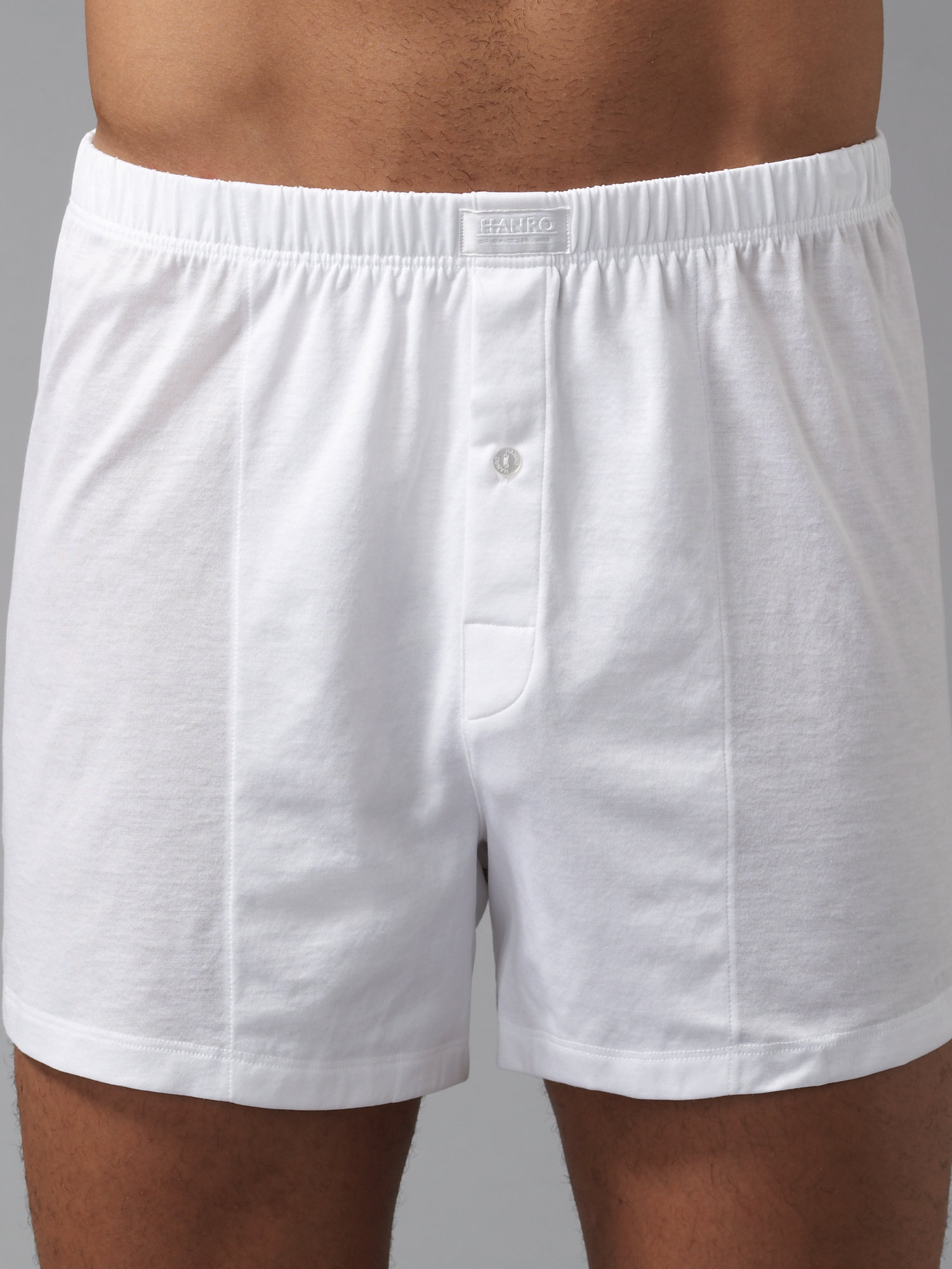 Lyst Hanro Cotton Jersey Boxers In White For Men
