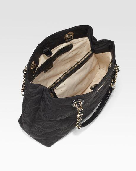 Kate Spade Maryanne Quilted Nylon Shoulder Bag In Black Lyst