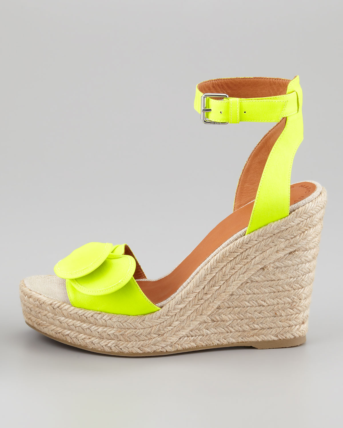 c1ade337219 Lyst - Marc By Marc Jacobs Pretty Knot Neon Canvas Wedge Sandal in ...
