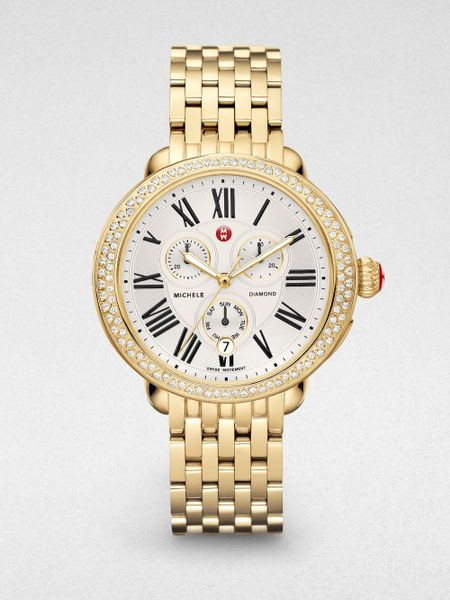michele serein 18k goldplated stainless steel