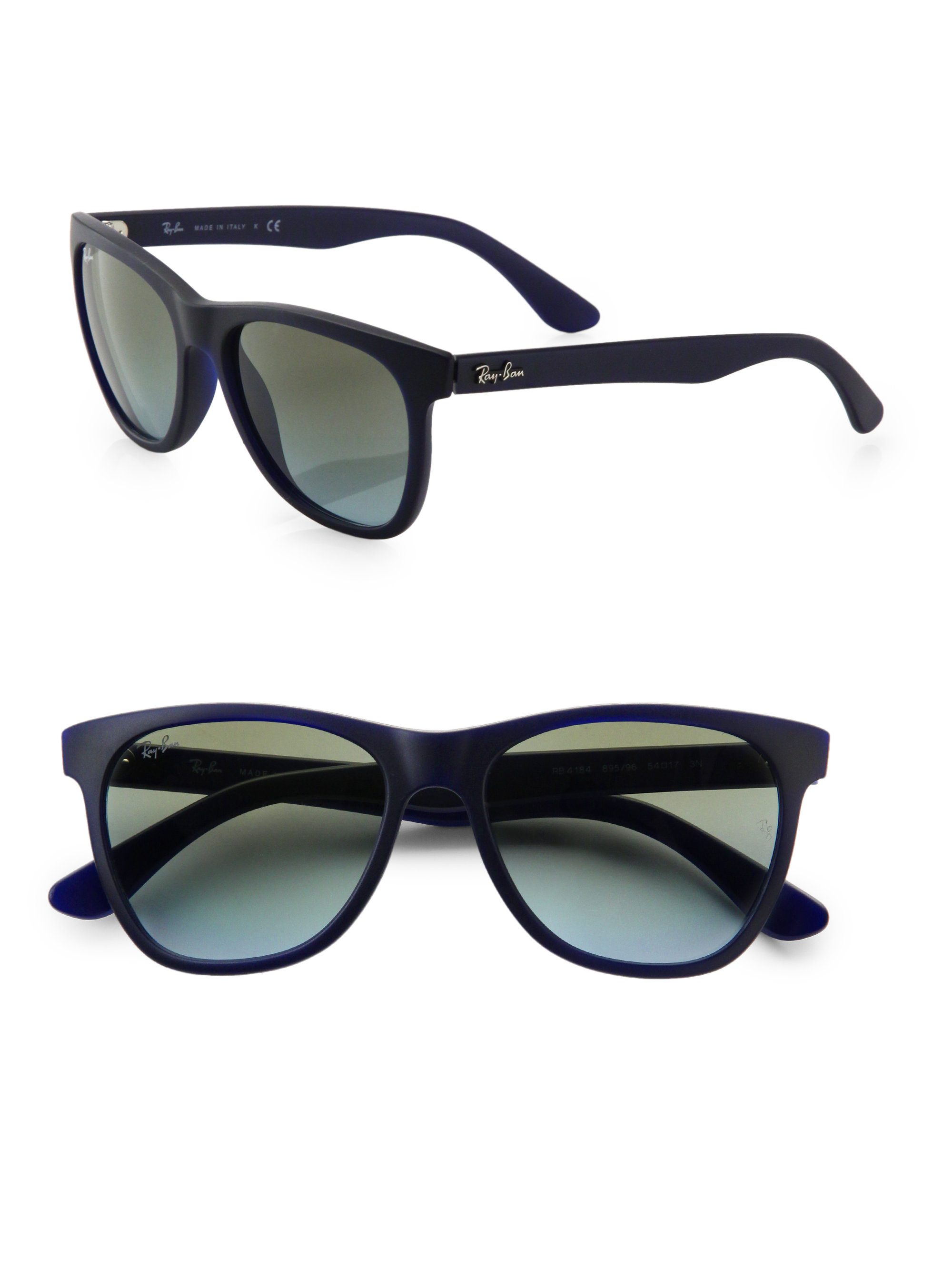 Oversized Wayfarer Sunglasses  ray ban oversized wayfarer sunglasses in blue for men lyst