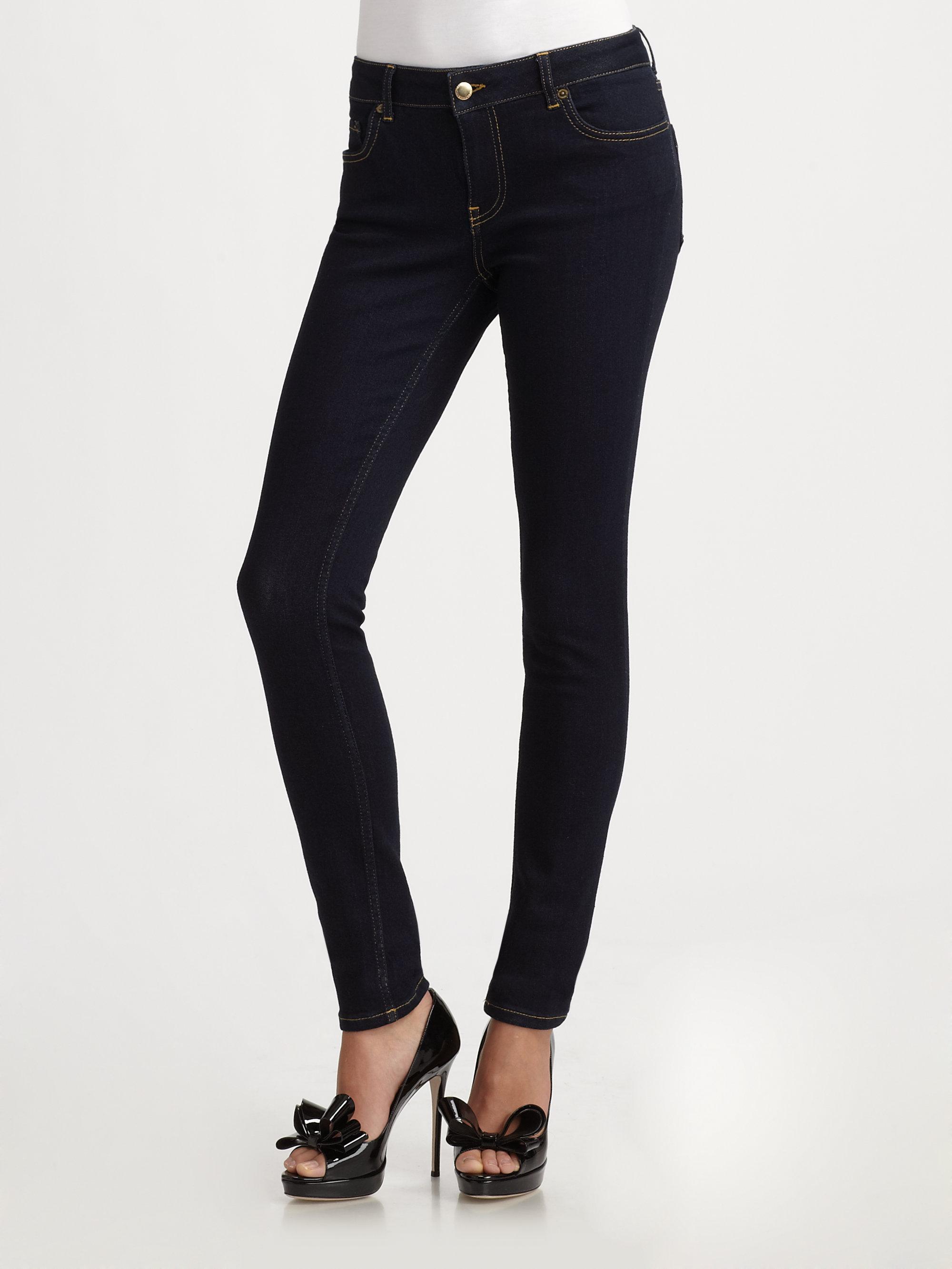 Red valentino Super Stretch Skinny Jeans in Blue | Lyst