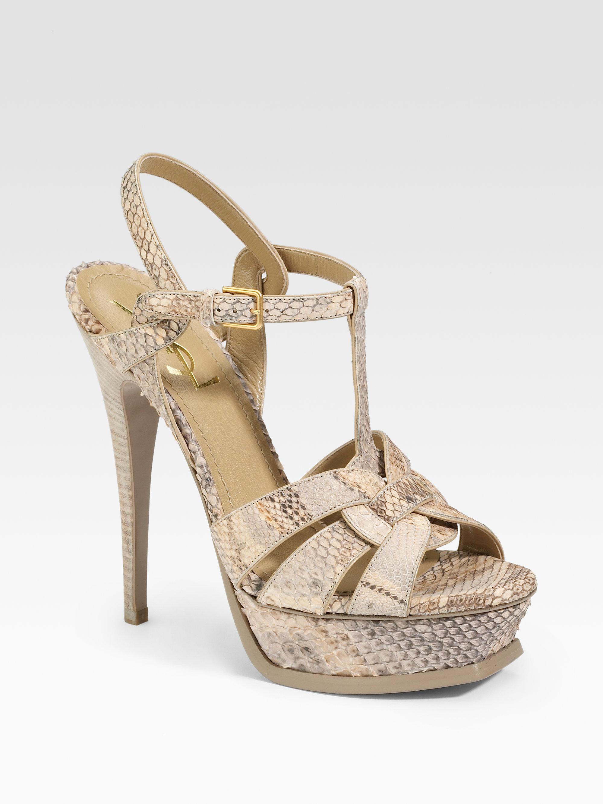 c3561456a5 yves saint laurent tribute python sandals