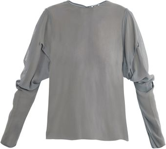 Acne Ava Puff Sleeve Blouse - Lyst