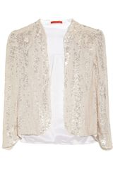 Alice + Olivia Wheeler Sequined Silk Organza Jacket