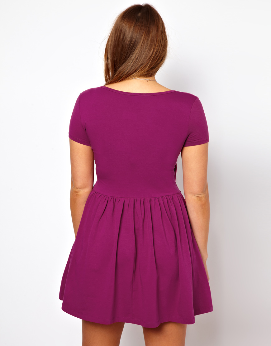 5ff18ceb18 Lyst - ASOS Curve Exclusive Skater Dress with Ballet Wrap and Short ...