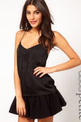 Asos Petite Cami with Skinny Straps and Sheer Panels