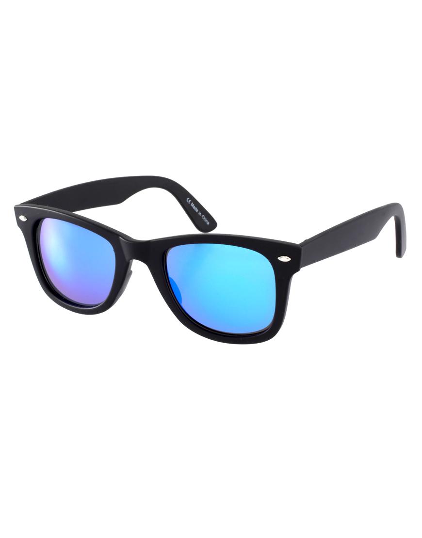 Lyst Asos Blue Revo Lens Wayfarer Sunglasses In Blue For Men