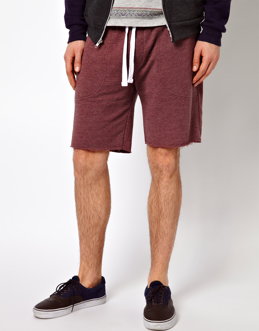 Asos Jersey Shorts in Red for Men | Lyst