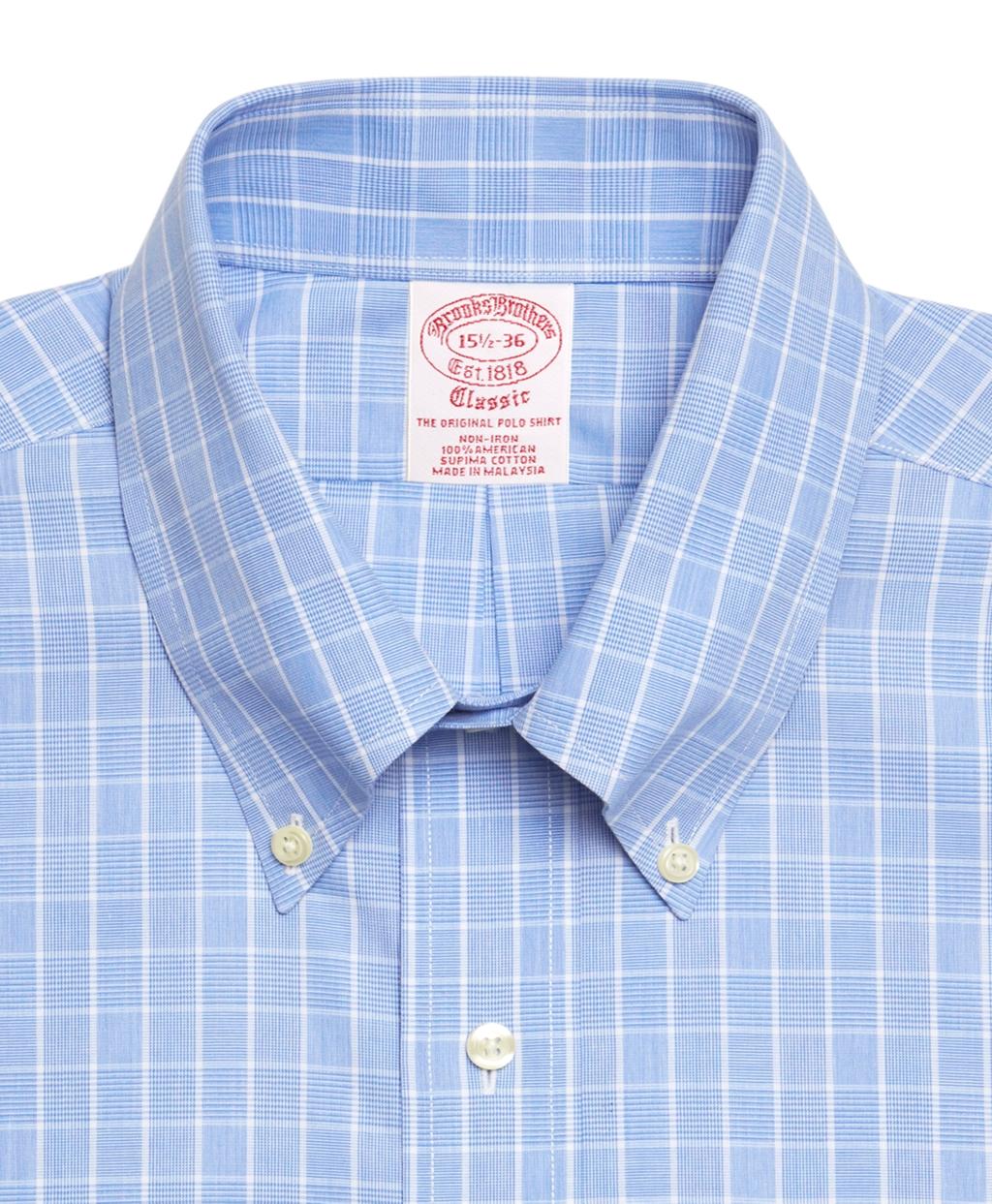 Brooks brothers supima cotton non iron regular fit button for Supima cotton dress shirts