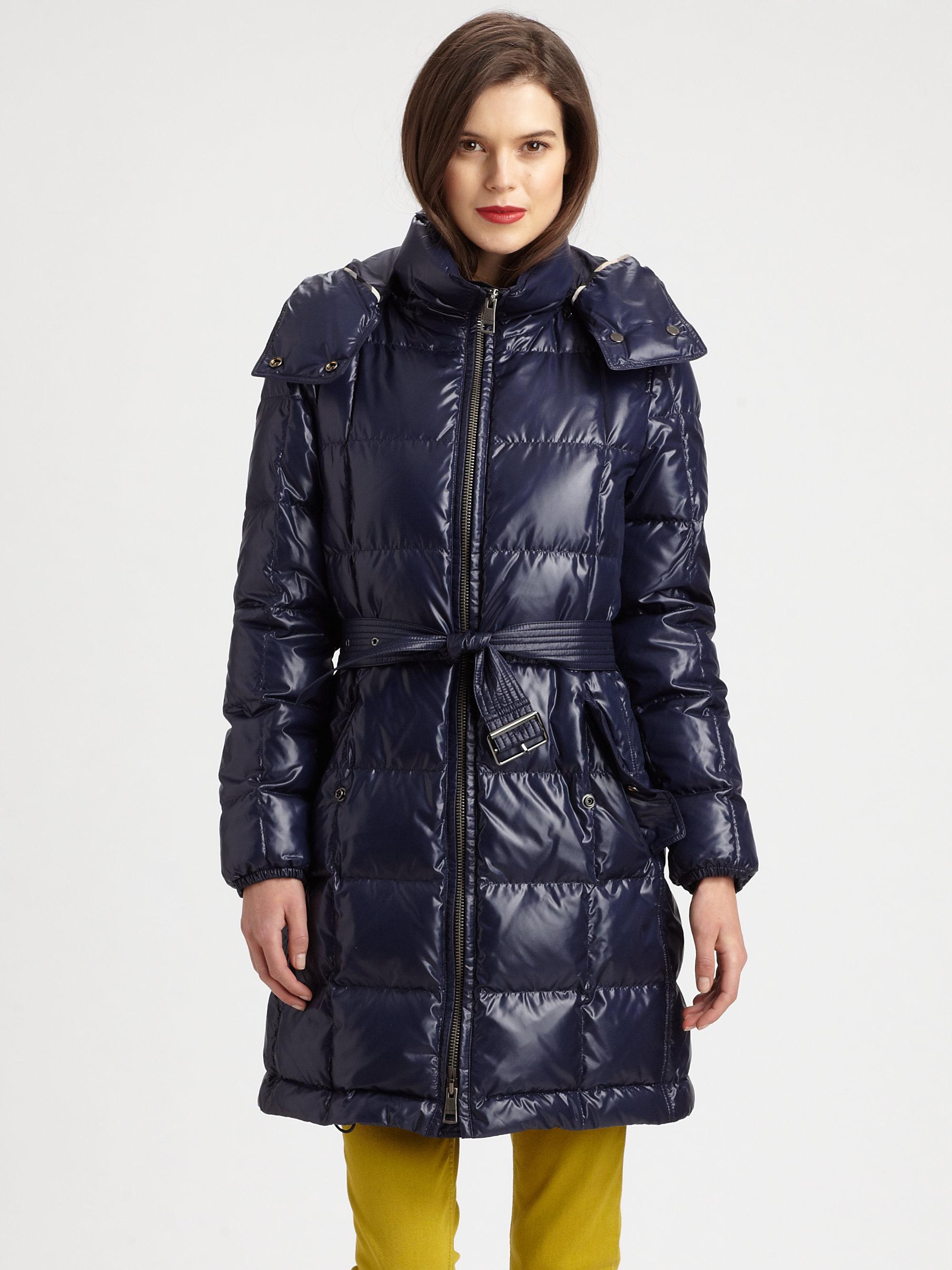 Lyst Burberry Brit Bramsby Down Puffer Coat In Blue