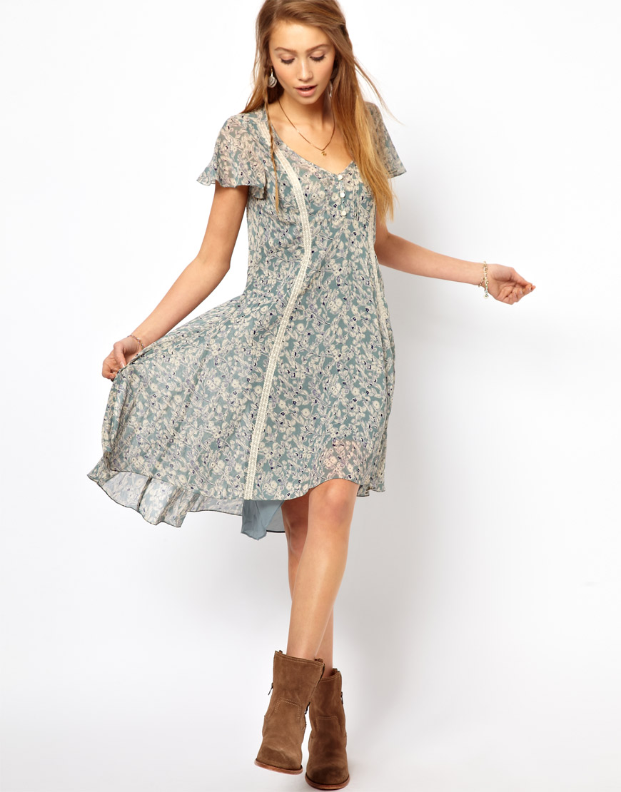 c50890206e6 Denim   Supply Ralph Lauren Denim Supply Floral Print Tea Dress in ...