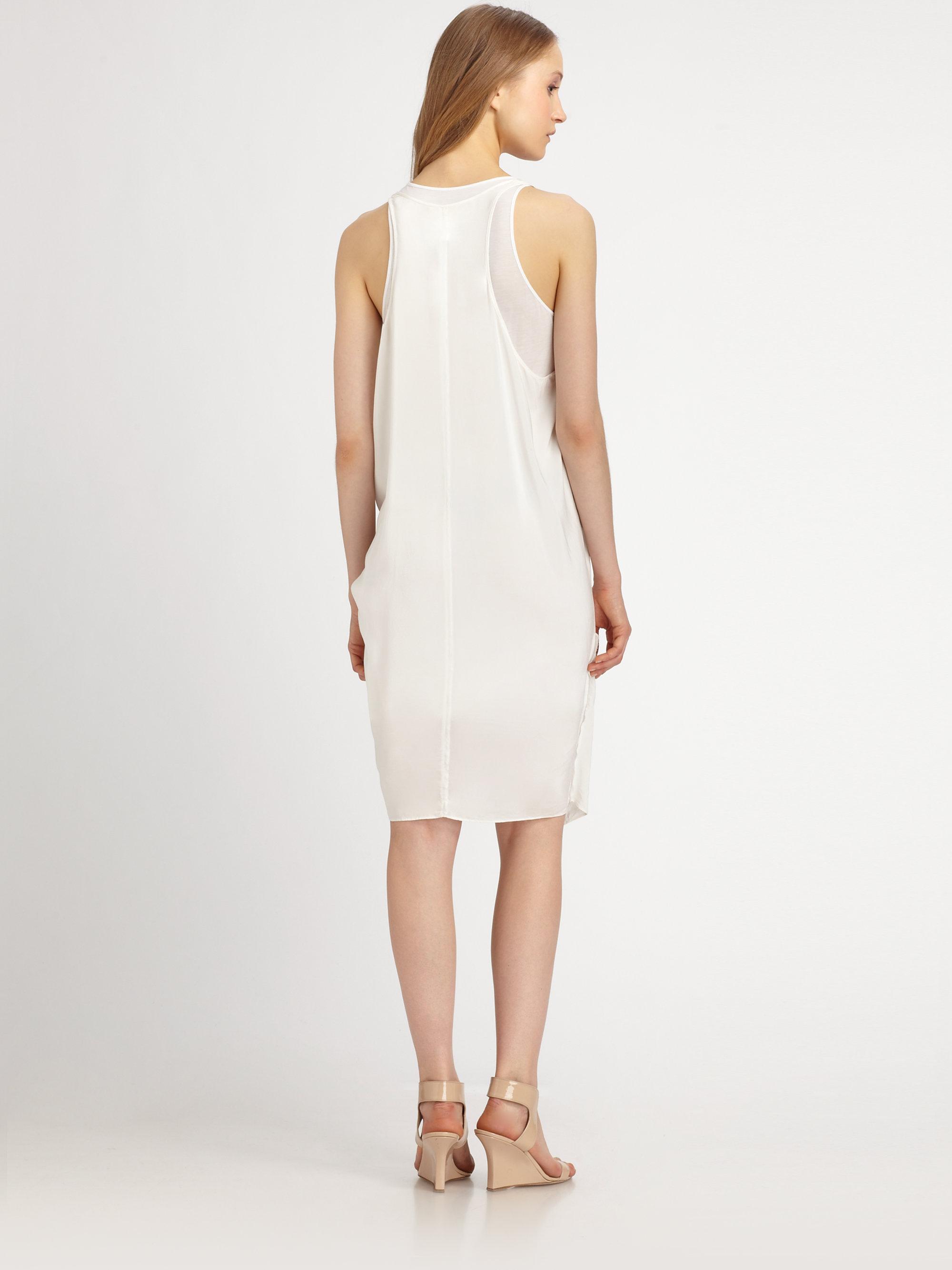 White Racerback Tank Dress