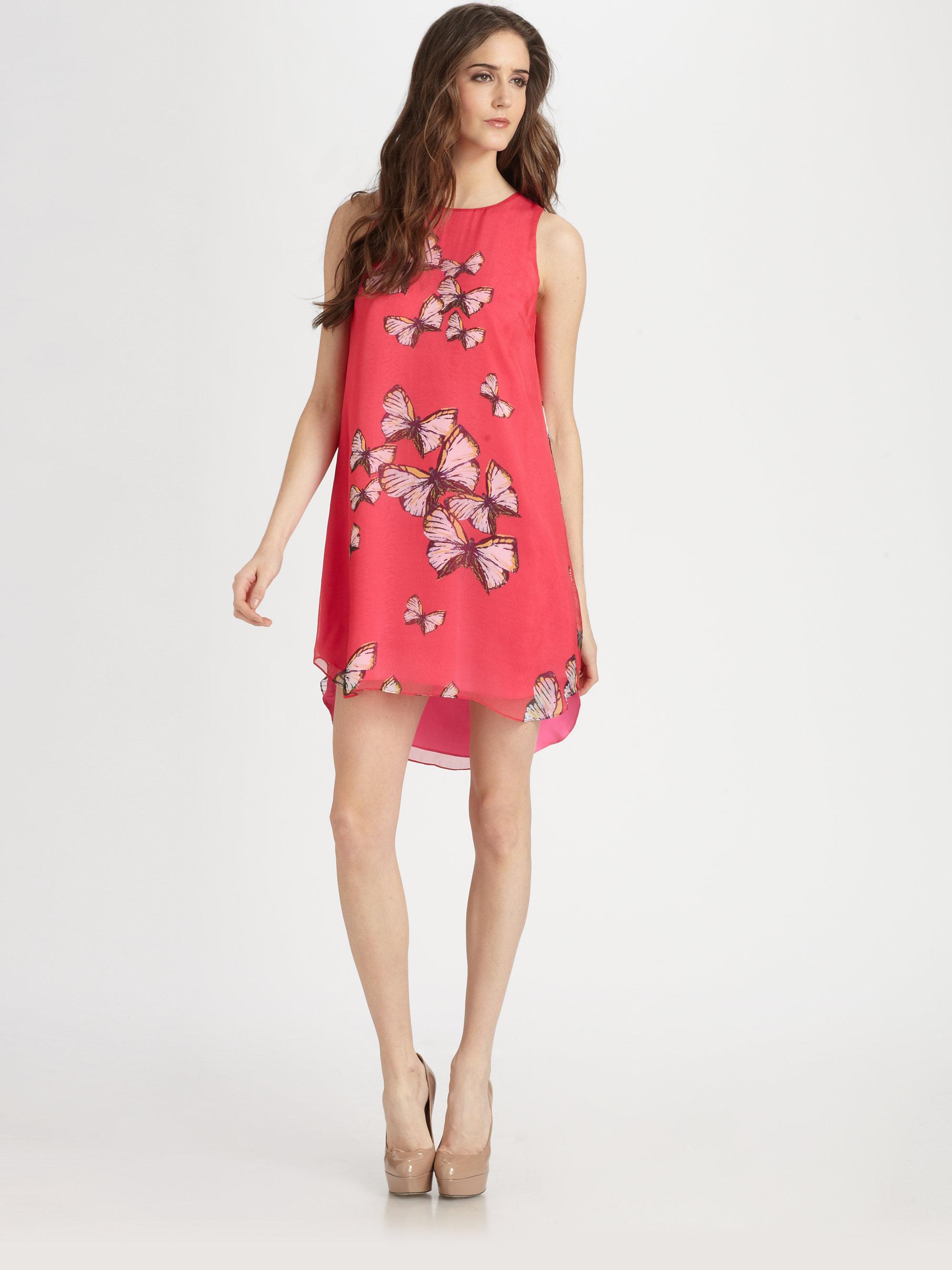 Erin Fetherston Silk Erfly Dress In Pink Lyst