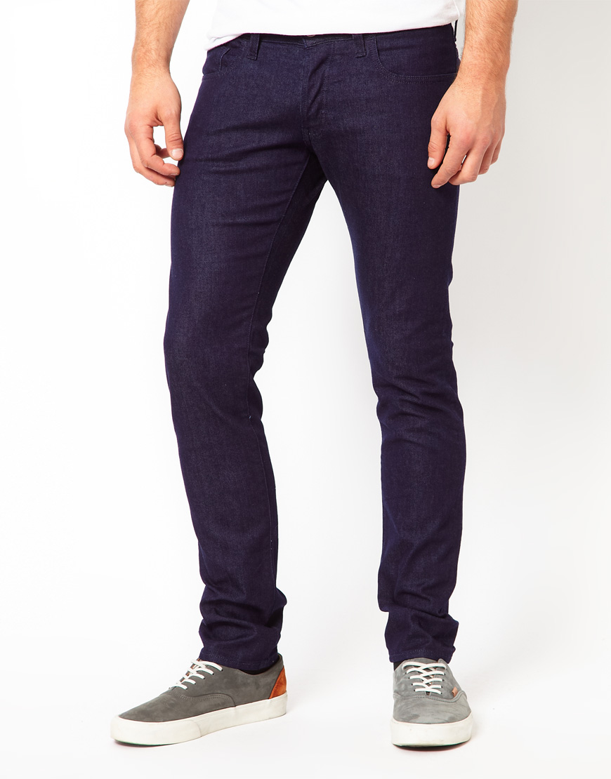 star raw g star jeans dexter slim raw in blue for men lyst. Black Bedroom Furniture Sets. Home Design Ideas
