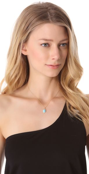 Jamie Wolf Small Oval Aladdin Pave Necklace In Blue Gold
