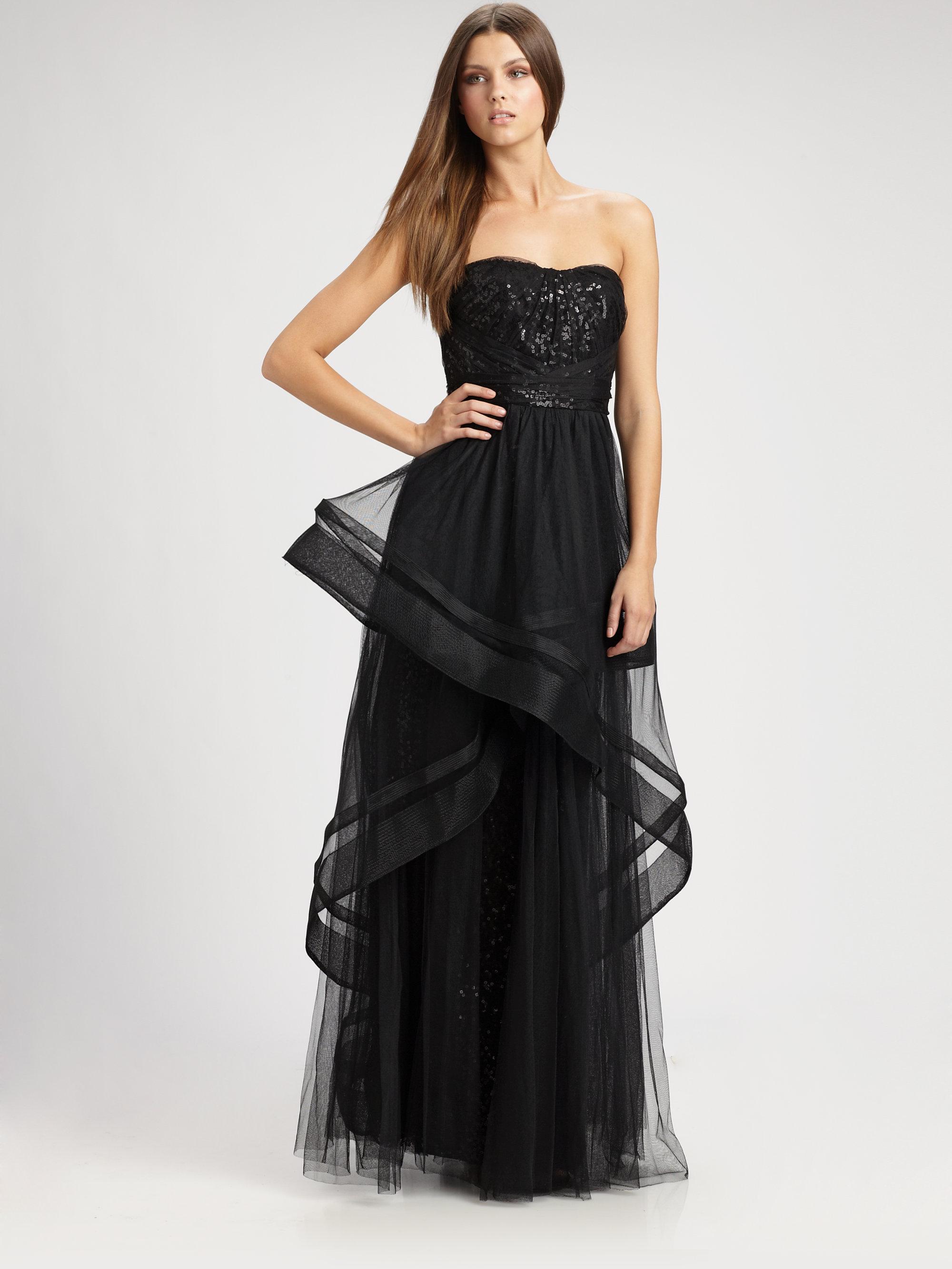 Monique Lhuillier Black Dress | Weddings Dresses