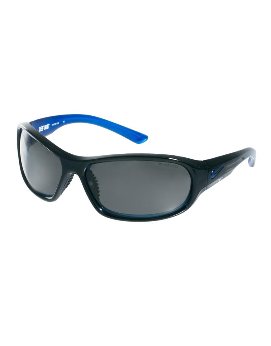 Nike tech sunglasses in black for men lyst for Van heusen pilot shirts slim fit