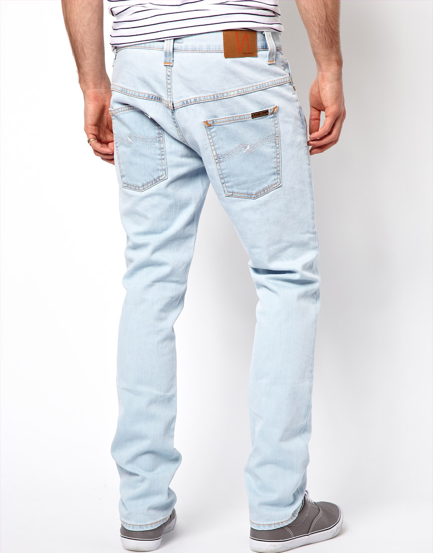 637579196a70f Nudie Jeans Tape Ted Skinny Fit Glacier Depot Wash in Blue for Men ...