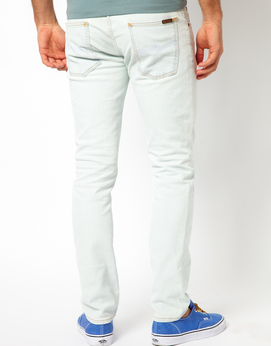 lyst nudie jeans tight long john skinny fit in white for men. Black Bedroom Furniture Sets. Home Design Ideas