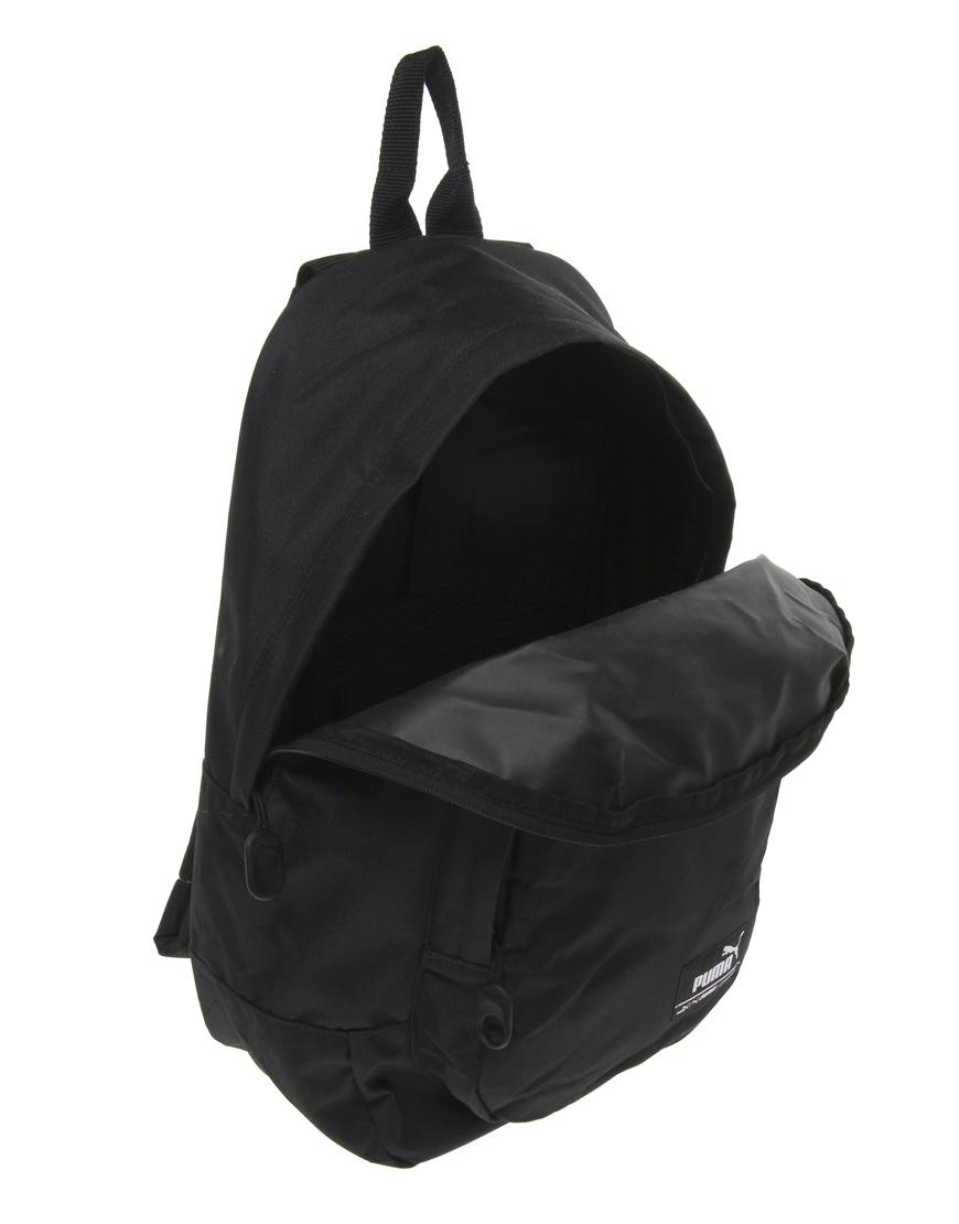 Lyst - PUMA Foundation Backpack in Black for Men 709624491dcd0