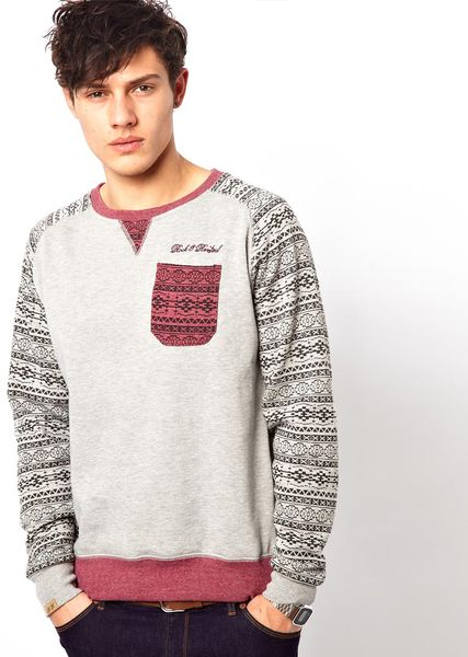 Rock Revival Sweatshirt in Gray for Men (greymarl)