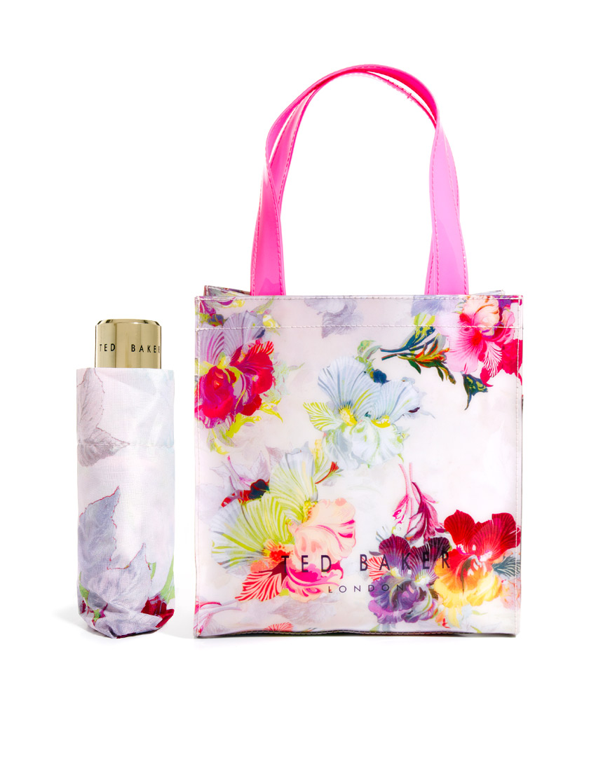 Ted Baker Hikaru Orchid Mini Shopper With Umbrella Lyst