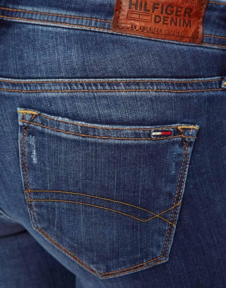 48597fc20a51f Lyst - Tommy Hilfiger Hilfiger Denim Natalie Skinny Jeans in Blue