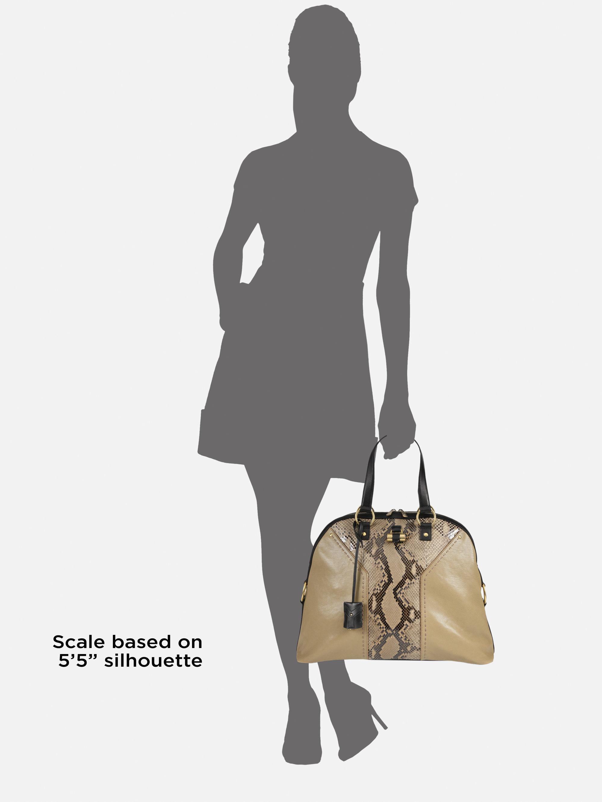 ysl brown handbag muse