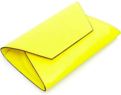 Yellow Handbags Zara Neon Yellow Clutch Bag #1: zara neon yellow basic clutch bag product 2 large flex
