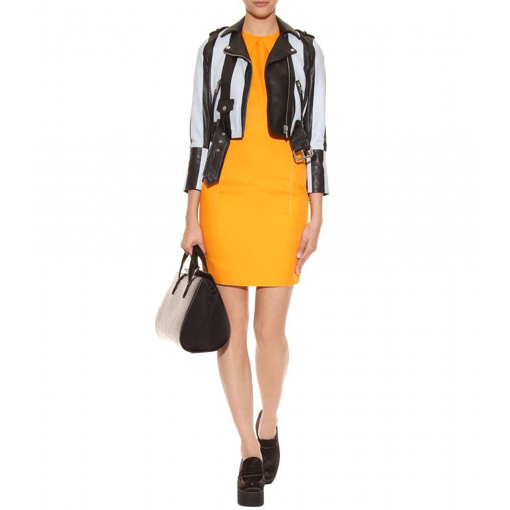 Leather jacket yellow stripe - Gallery