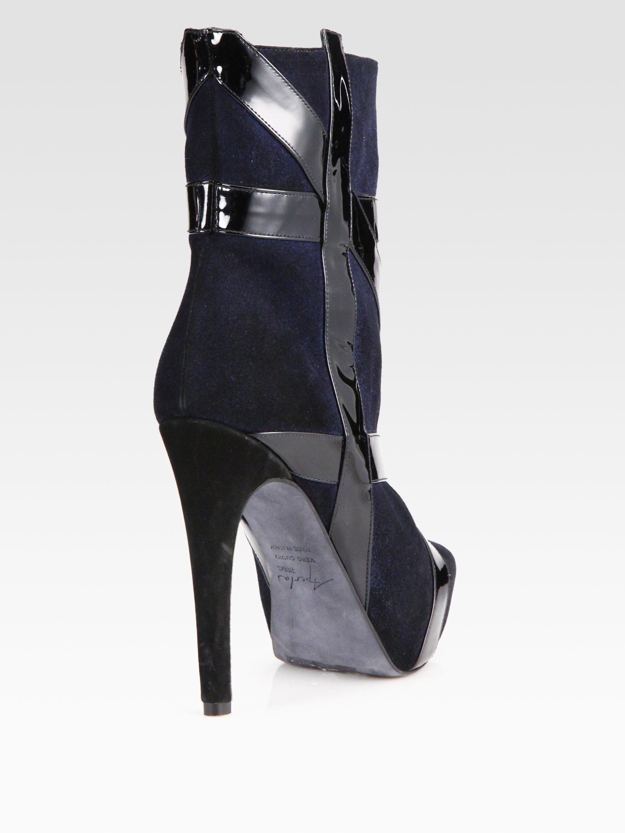 APERLAI Leather Ankle Boots 4U3tH