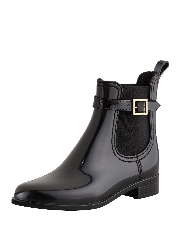 Short Black Rain Boots - Boot Hto