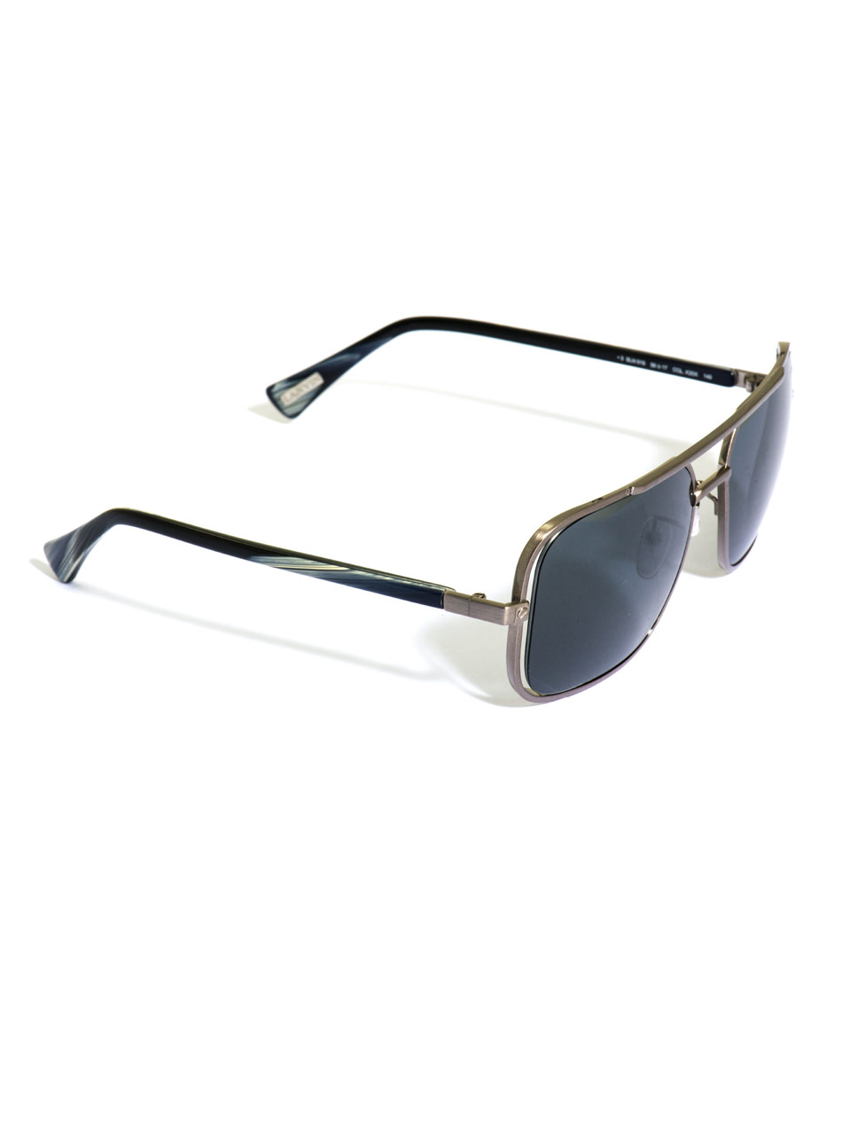 5ae184c766e Lanvin Square Metal Frame Sunglasses in Metallic for Men - Lyst