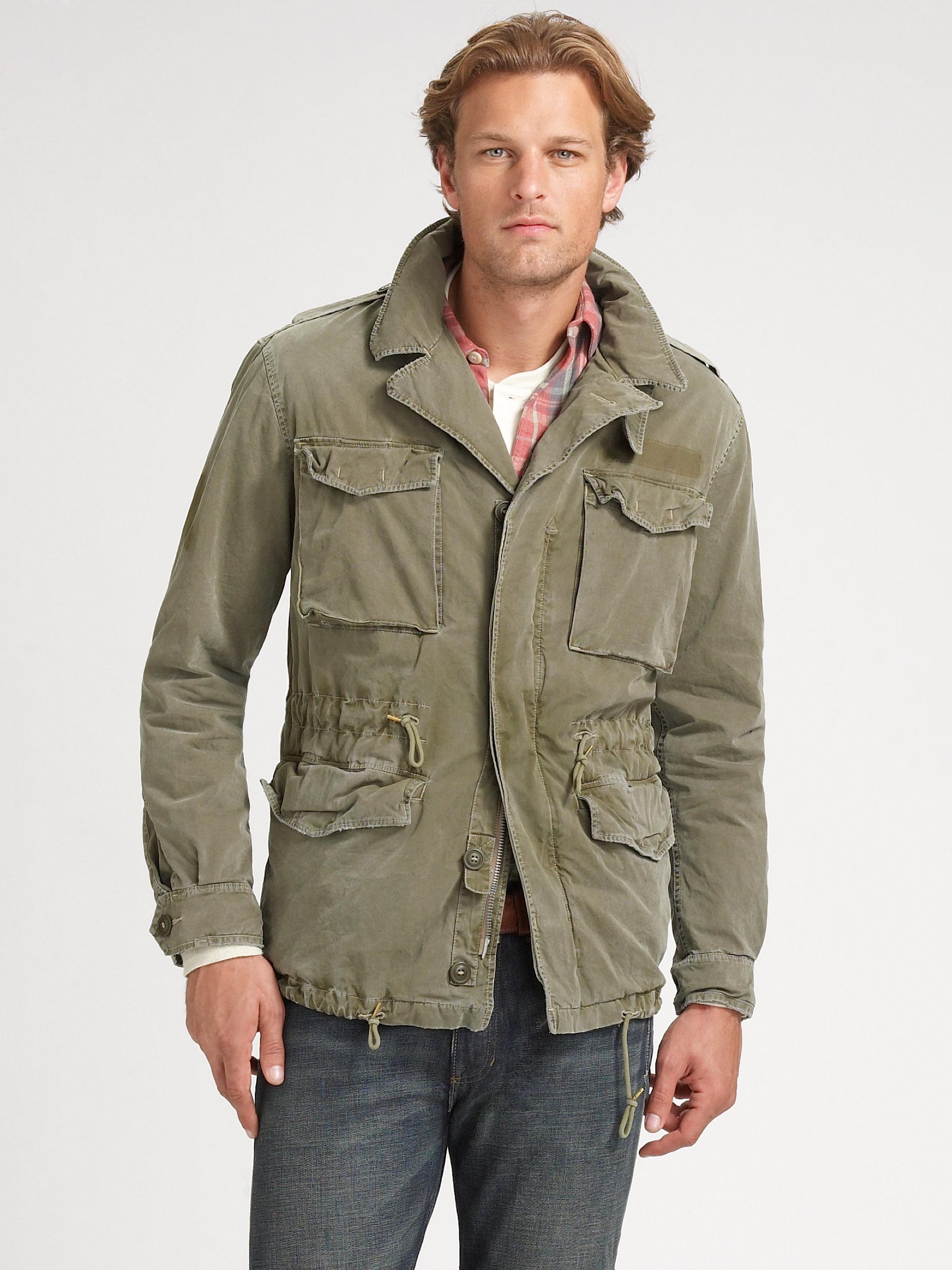 Ralph Lauren Fashion Show At New York: Polo Ralph Lauren Military Combat Jacket In Green