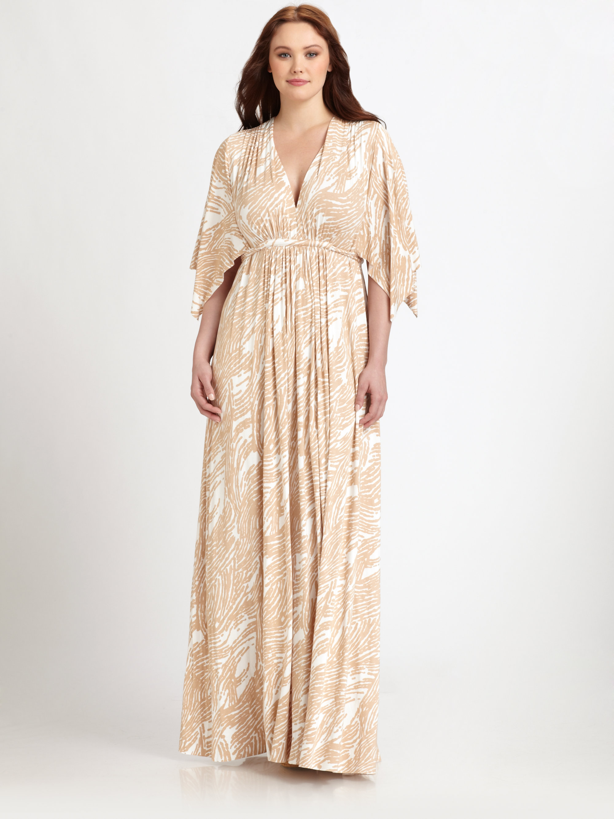 Lyst Rachel Pally Printed Long Caftan Dress In Natural