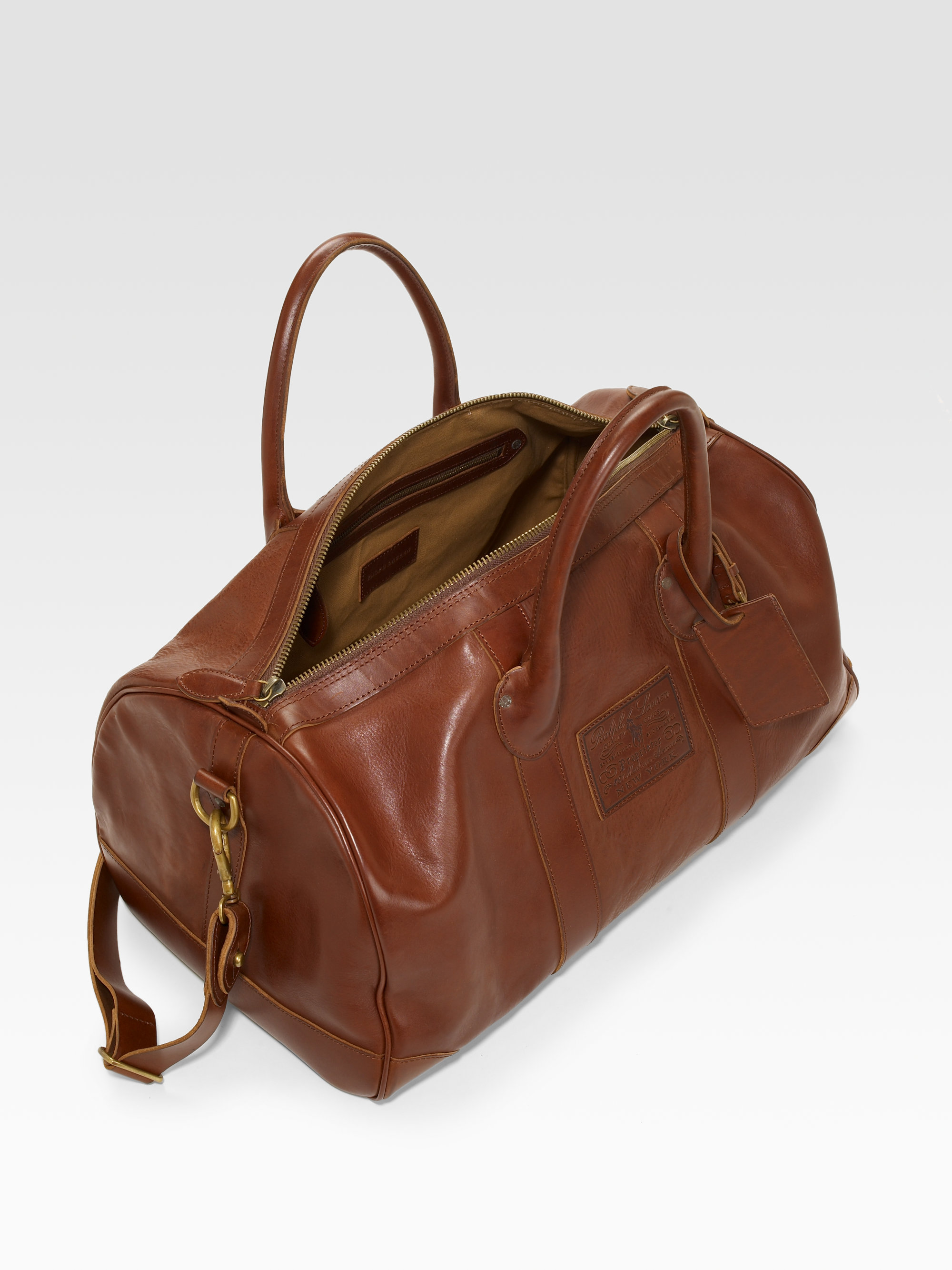 Lyst Polo Ralph Lauren Leather Holdall Bag In Brown For Men c89aee363236d
