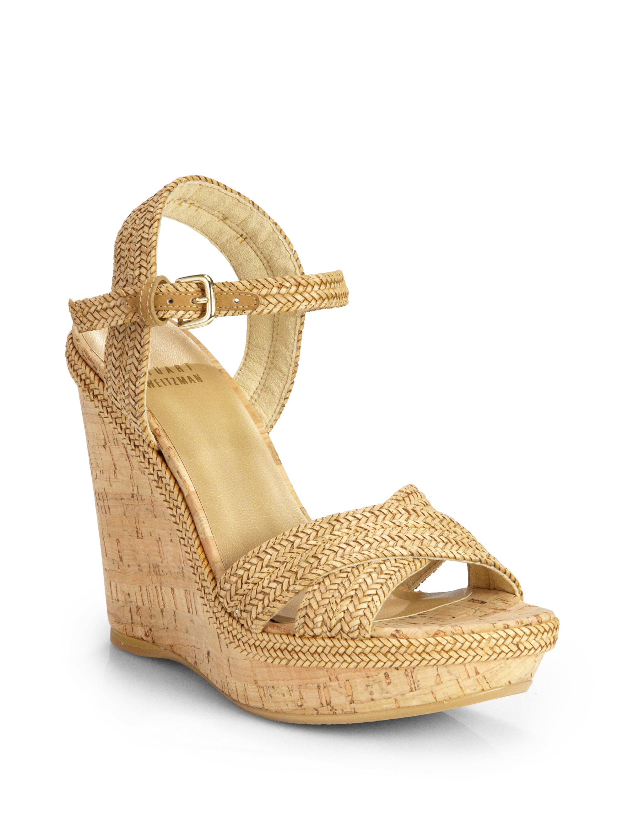 Lyst Stuart Weitzman Minx Espadrille Cork Wedge Sandals