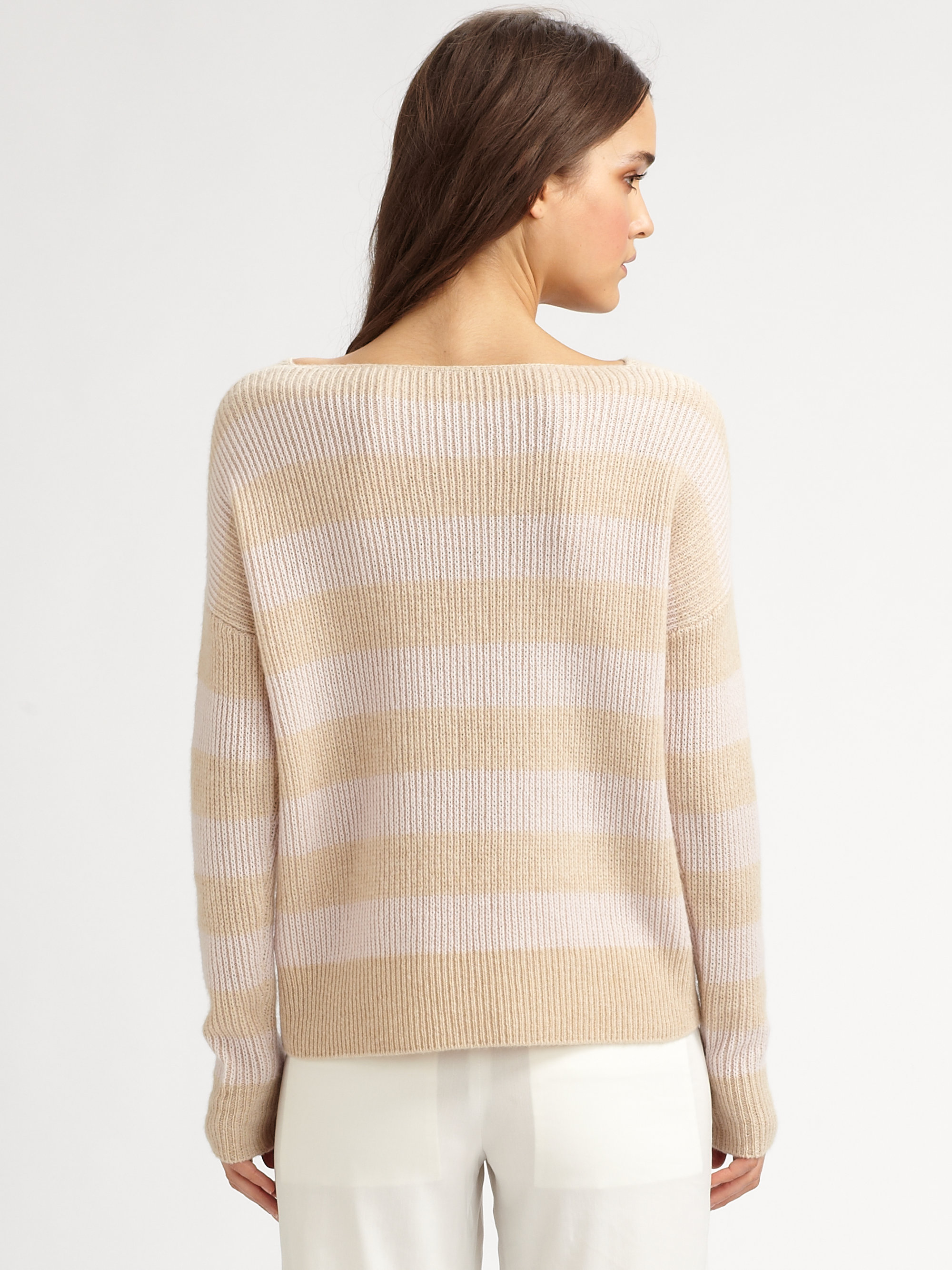 Theory Jilliane Cashmere Sweater in Natural | Lyst