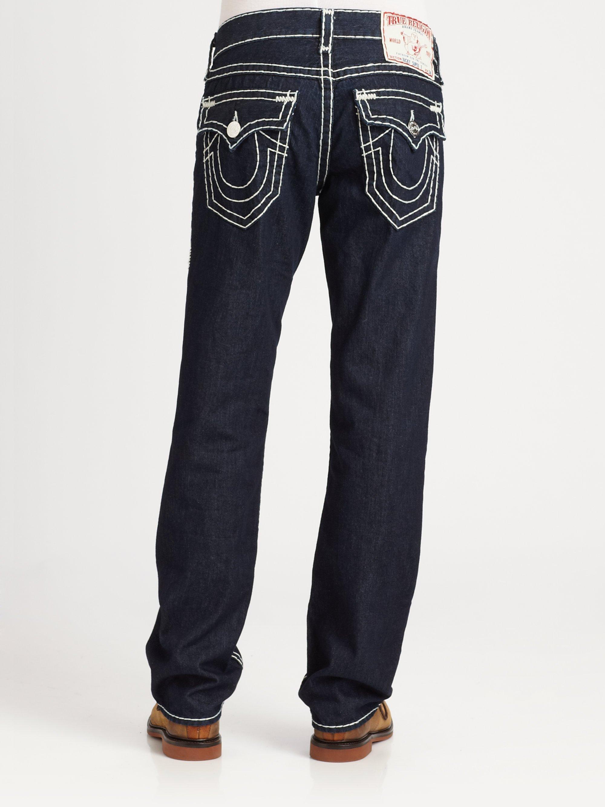 True religion Ricky Supert Jeans in Black for Men | Lyst