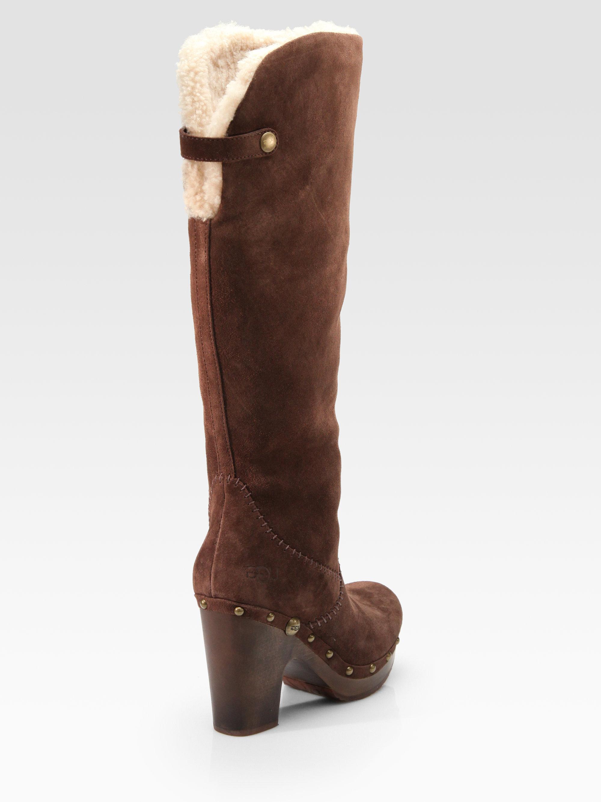 ugg suede clog boots