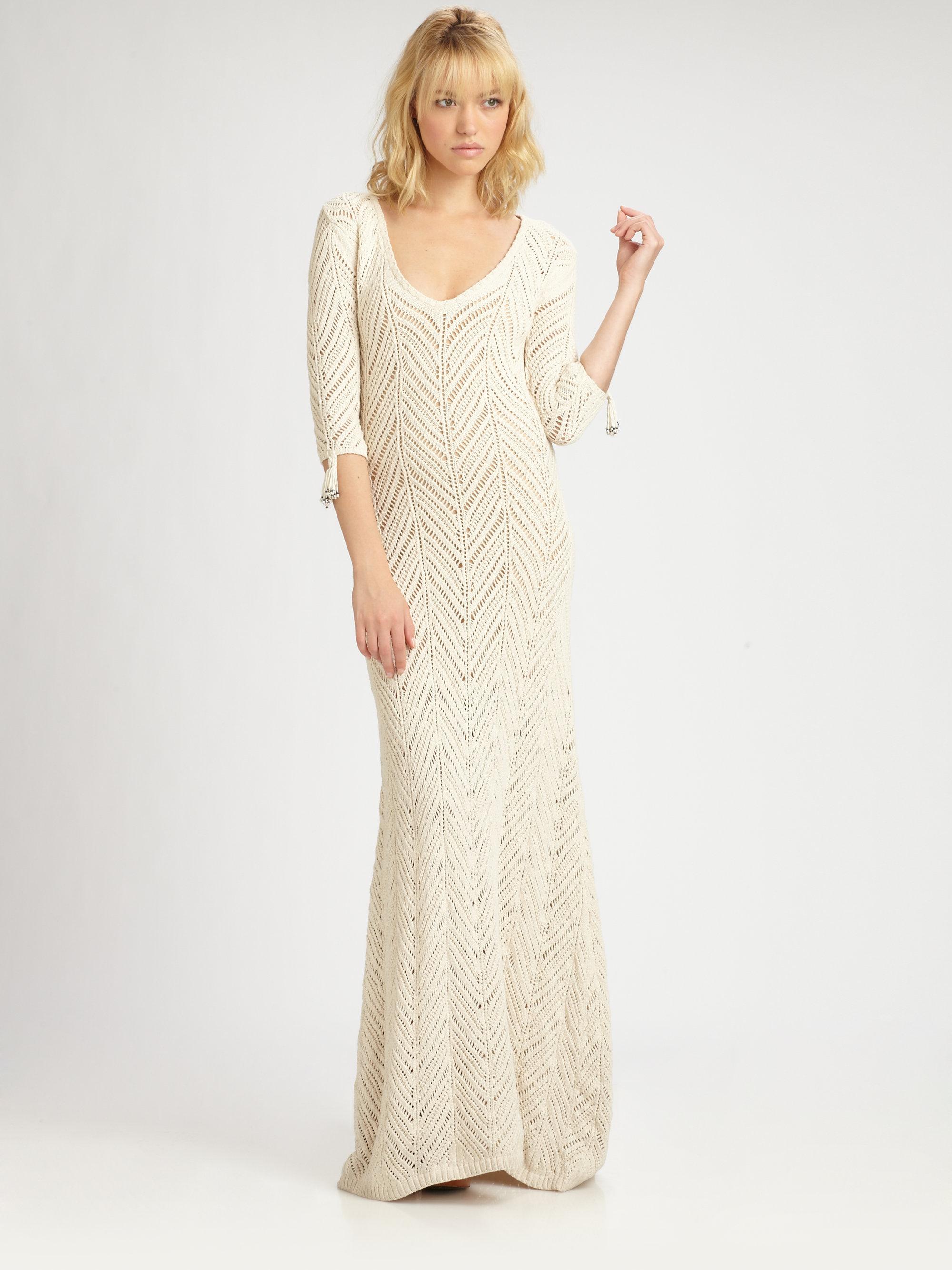 Lyst Mara Hoffman Crochet Maxi Dress In White