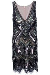Amen Sleeveless Sequin Dress
