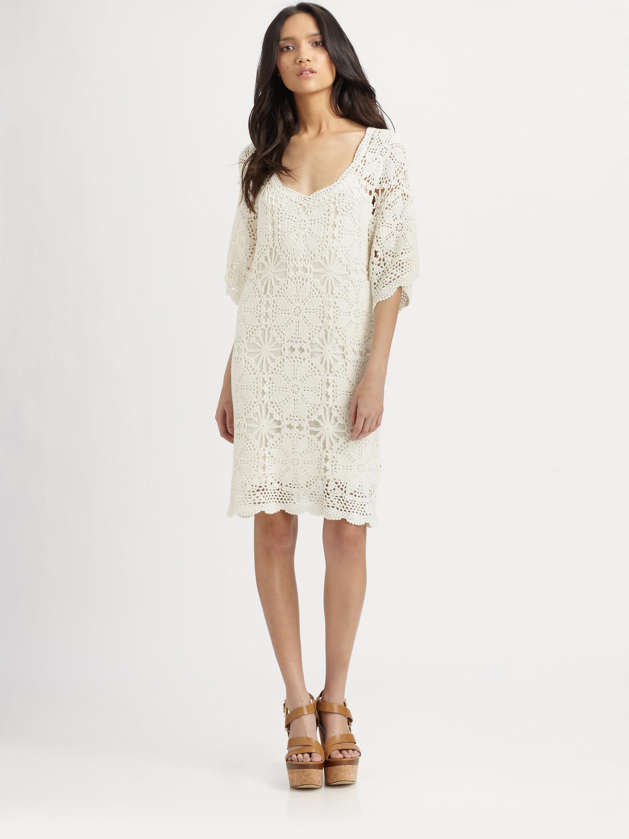 Semi sheer lace dress