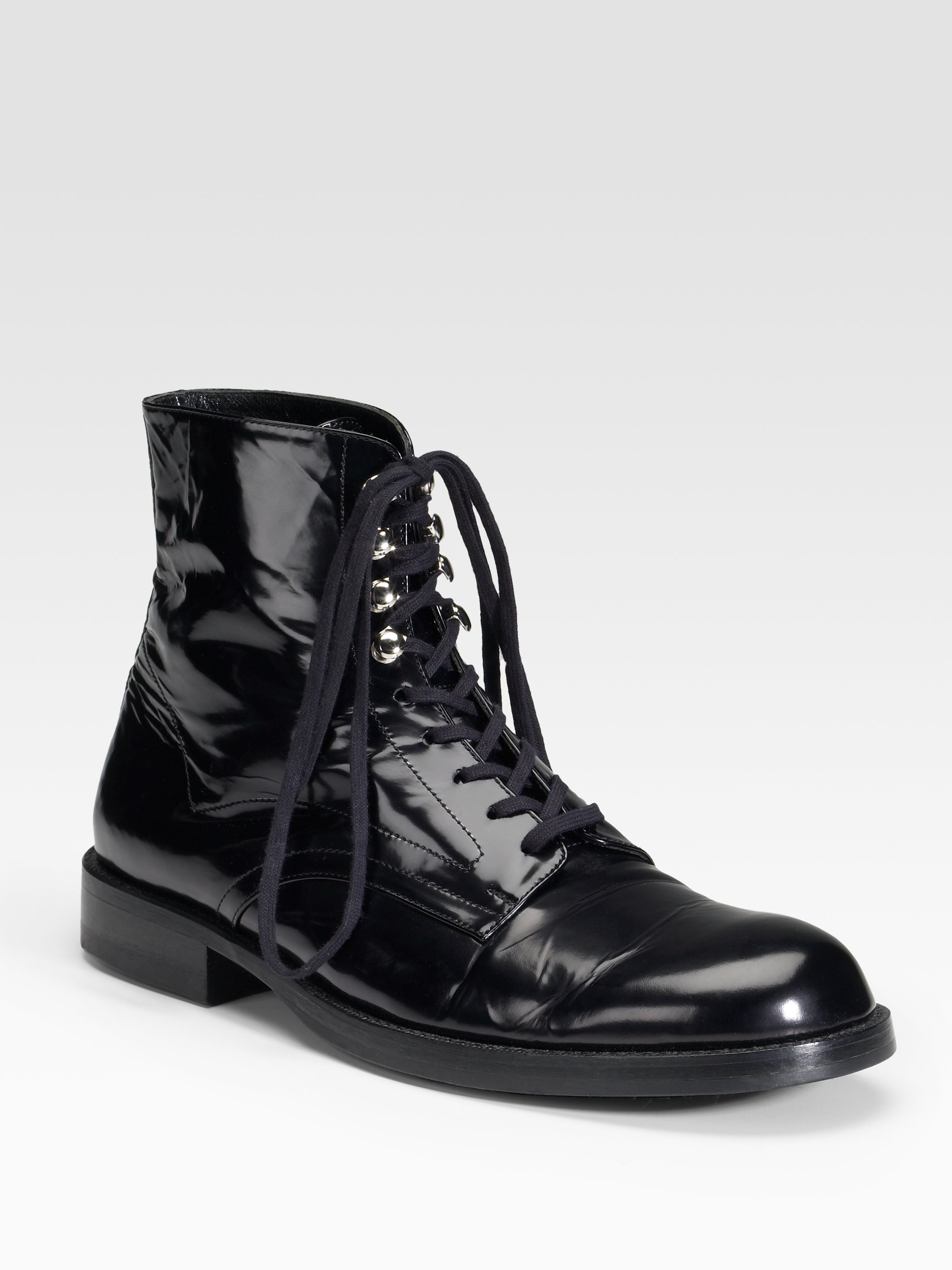 Junya Watanabe Pointed-Toe Lace-Up Booties low price online V1irWYtP1h