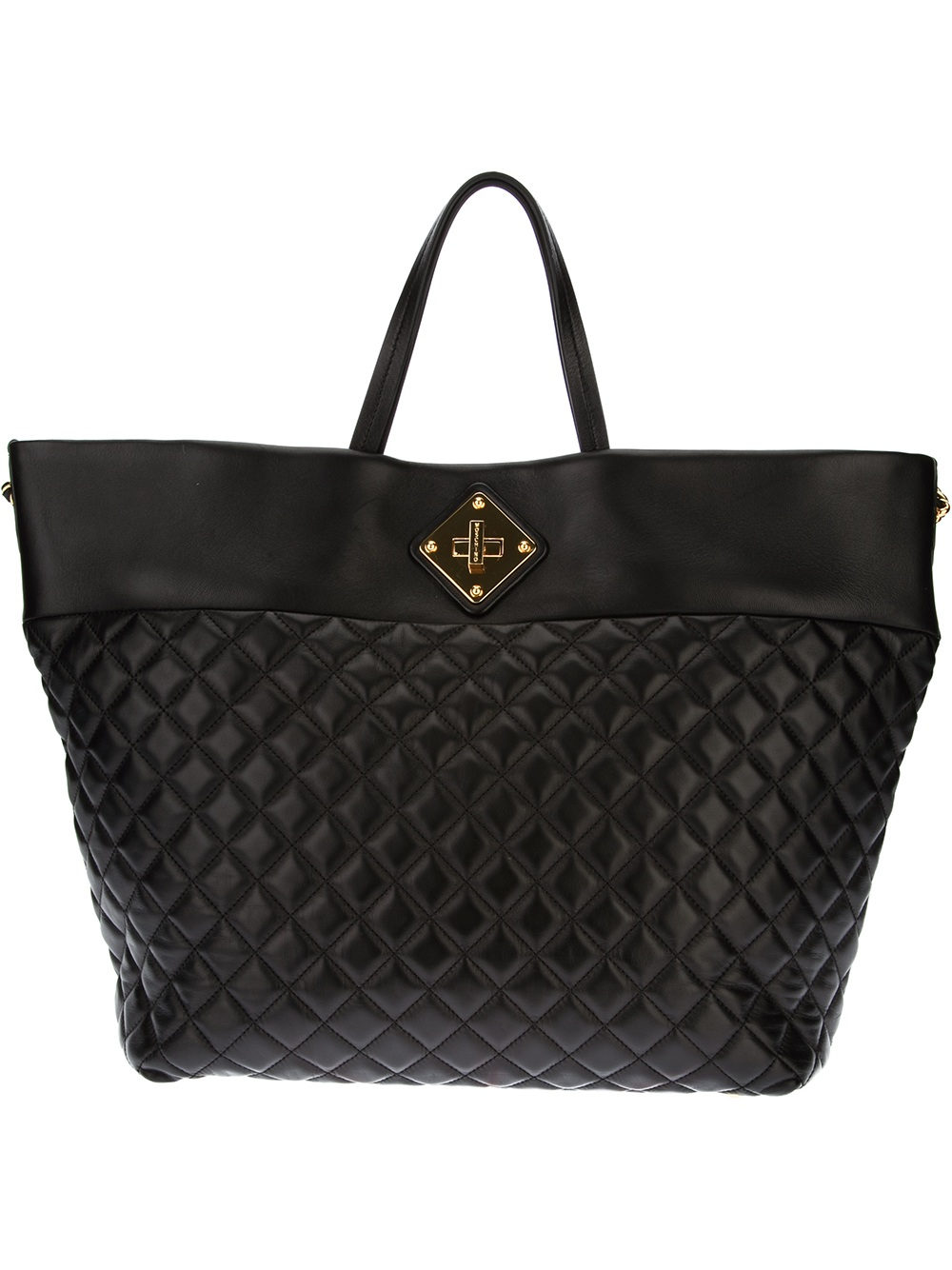 lyst moschino quilted shopper tote in black. Black Bedroom Furniture Sets. Home Design Ideas