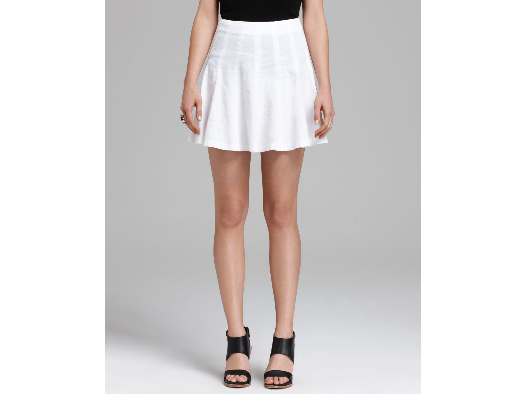 theory skirt eliza crunch pleated in white lyst