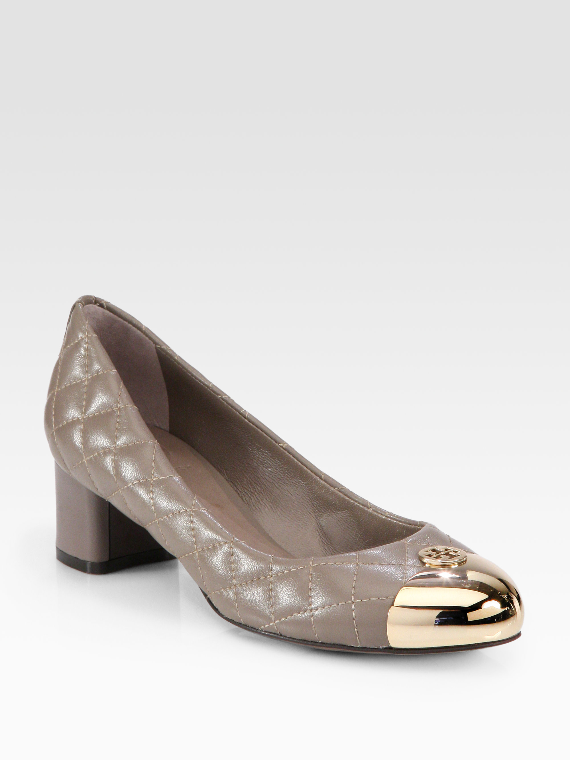 15874ebe553f Lyst - Tory Burch Kaitlin Quilted Leather Pumps in Brown