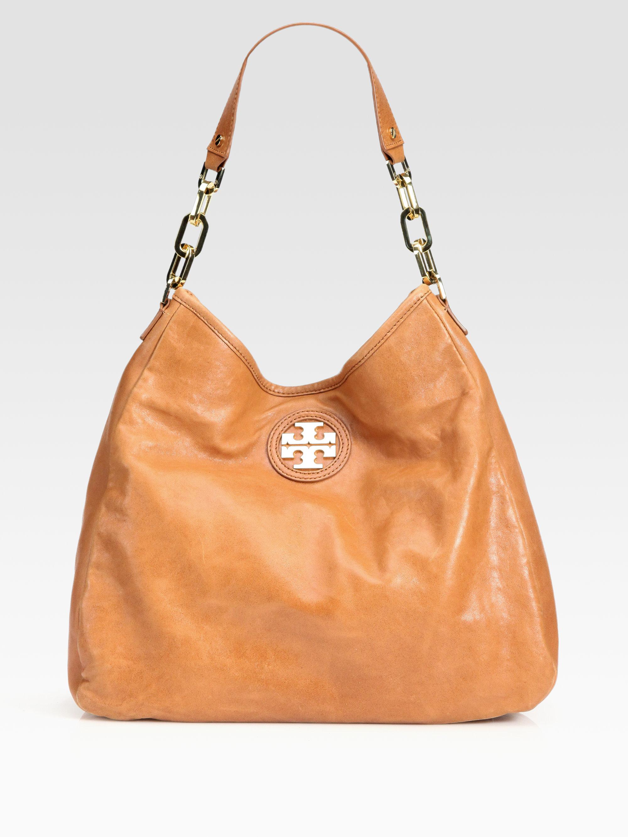 5fed184c86d Lyst - Tory Burch City Hobo Bag in Brown